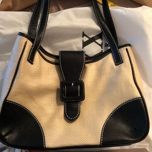 Maxx New York Straw and Leather Large Bag EUC